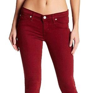 Hudson Krista dark red skinny jeans
